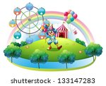 illustration of a clown with... | Shutterstock .eps vector #133147283