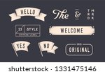 set of vintage graphic. design... | Shutterstock . vector #1331475146
