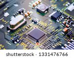 electronic circuit board close... | Shutterstock . vector #1331476766