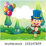 illustration of a monkey with... | Shutterstock .eps vector #133147859