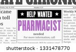 pharmacist job offer. newspaper ... | Shutterstock .eps vector #1331478770
