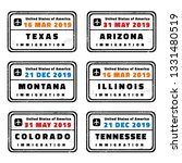 usa vector passport stamps... | Shutterstock .eps vector #1331480519