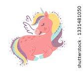 cute little magical unicorn.... | Shutterstock .eps vector #1331481050