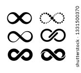 black infinite symbol collection | Shutterstock .eps vector #1331500370