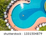 drone aerial view of young man...   Shutterstock . vector #1331504879