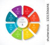 vector infographic circle.... | Shutterstock .eps vector #1331506646