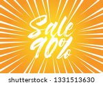 sale 90   beautiful greeting... | Shutterstock .eps vector #1331513630