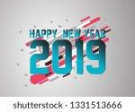 happy new year 2019  vector... | Shutterstock .eps vector #1331513666
