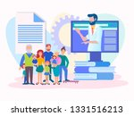 medical consultation online ... | Shutterstock .eps vector #1331516213