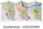 design map city gps nashville | Shutterstock .eps vector #1331537060