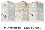 design map city gps san paulo | Shutterstock .eps vector #1331537063