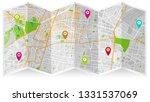 design map city gps mexico | Shutterstock .eps vector #1331537069