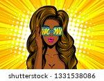 beautiful pop art girl...   Shutterstock .eps vector #1331538086