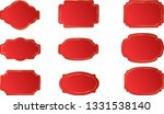 christmas luxury red sale tags  ... | Shutterstock .eps vector #1331538140