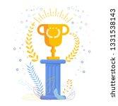 gold cup winner on an antique... | Shutterstock .eps vector #1331538143