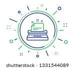 typewriter line icon.... | Shutterstock .eps vector #1331544089