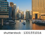 dubai marina before sunset with ... | Shutterstock . vector #1331551016