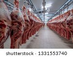 Meat Industry Meats Hanging In...