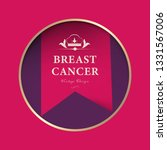 breast cancer ribbon label and... | Shutterstock .eps vector #1331567006