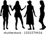 silhouette of a woman. | Shutterstock .eps vector #1331574416
