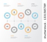 cook icons line style set with... | Shutterstock .eps vector #1331585789