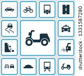 transport icons set with... | Shutterstock . vector #1331587280
