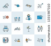 travel icons colored line set... | Shutterstock .eps vector #1331587310