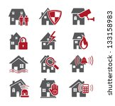 house security icons | Shutterstock .eps vector #133158983