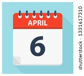 april 6   calendar icon  ... | Shutterstock .eps vector #1331617310