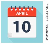 april 10   calendar icon  ... | Shutterstock .eps vector #1331617313
