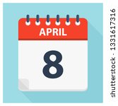 april 8   calendar icon  ... | Shutterstock .eps vector #1331617316