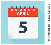 april 5   calendar icon  ... | Shutterstock .eps vector #1331617319