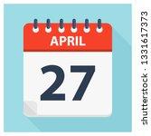 april 27   calendar icon  ... | Shutterstock .eps vector #1331617373