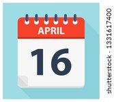 april 16   calendar icon  ... | Shutterstock .eps vector #1331617400