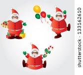 merry christmas | Shutterstock .eps vector #133162610