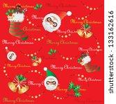 merry christmas | Shutterstock .eps vector #133162616