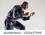 Small photo of Brazilian Jiu JItsu BJJ Fighter in A Fighting Stance