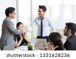 handshake between the foreign... | Shutterstock . vector #1331628236