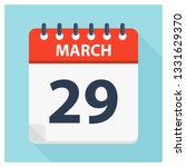march 29   calendar icon  ... | Shutterstock .eps vector #1331629370