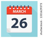 march 26   calendar icon  ... | Shutterstock .eps vector #1331629373