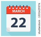 march 22   calendar icon  ... | Shutterstock .eps vector #1331629376