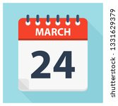 march 24   calendar icon  ... | Shutterstock .eps vector #1331629379