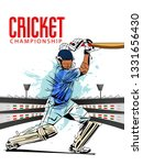 illustration of batsman in... | Shutterstock .eps vector #1331656430
