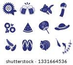 japaneas summer icon set | Shutterstock .eps vector #1331664536