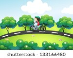 Illustration Of A Boy Riding I...