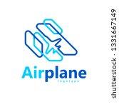 airplane logo sihouette plane...   Shutterstock .eps vector #1331667149