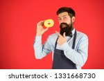 cheat meal. hipster bearded... | Shutterstock . vector #1331668730