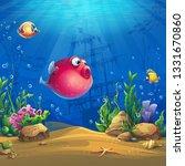 undersea world with fish.... | Shutterstock .eps vector #1331670860