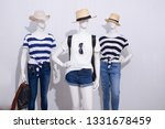 three mannequin in female... | Shutterstock . vector #1331678459