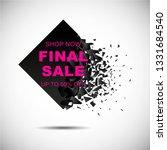 black sale background. final... | Shutterstock .eps vector #1331684540